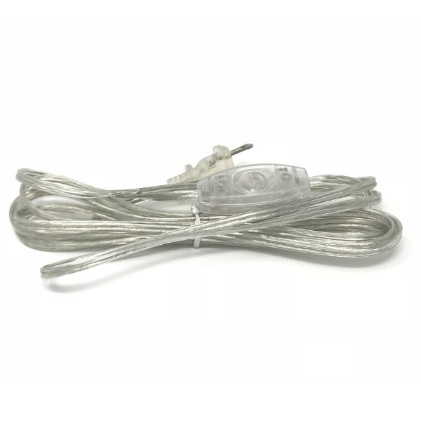 Clear Parallel Cord set with toggle switch and molded Plug - 11 ft.