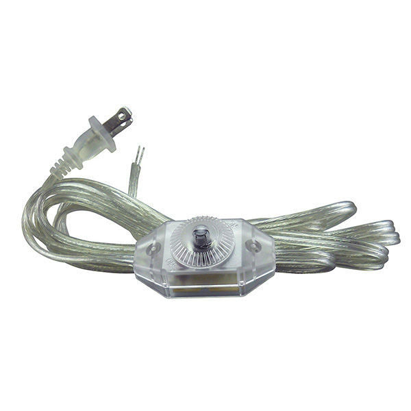 Clear Parallel Cord set with Full Range dimmer switch - 11 ft.