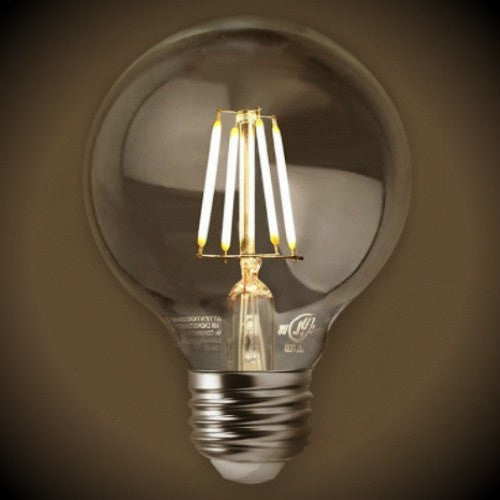Led Edison Filament Globe Bulb Dimmable 2700k Clear
