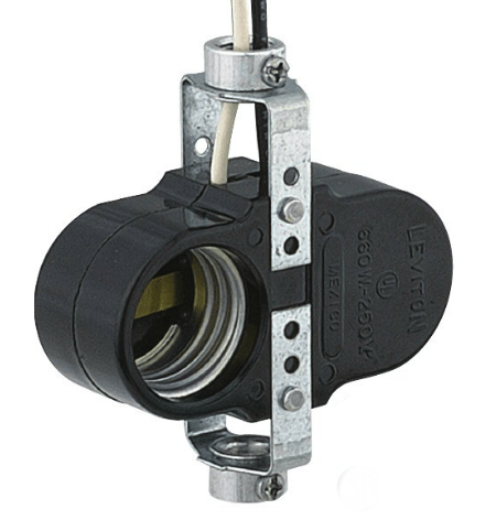 Switchless 2-Light offset Cluster Socket