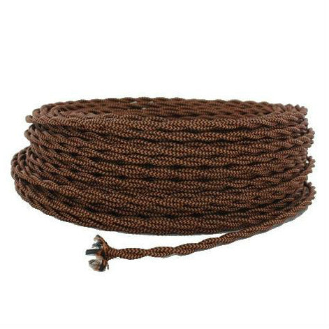 Black & Copper Twisted Wire - Per ft. - 18 AWG