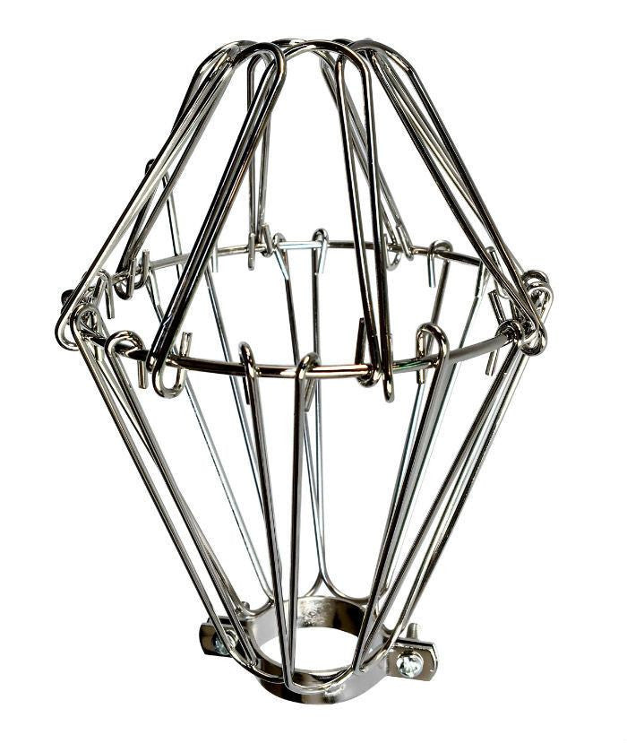 chrome small wire lamp guard - cage
