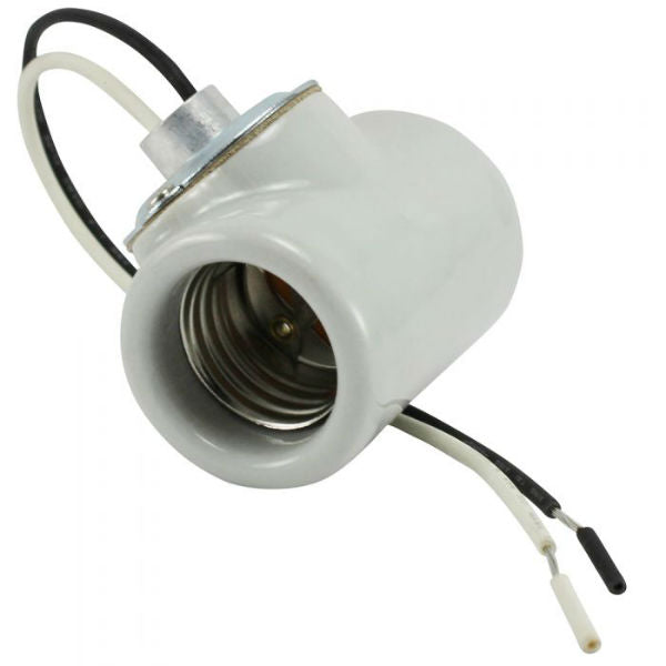 "Duplex Body Light Socket with 9"" Leads"