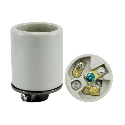 Porcelain 3 wire grounding light socket