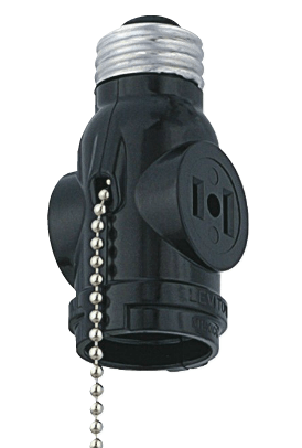 Pull Chain & Duplex Outlet Socket