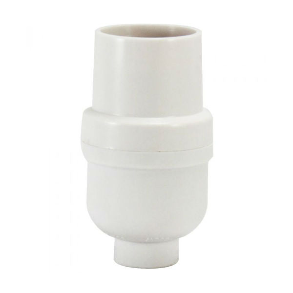 White Phenolic Medium Base Lamp Socket