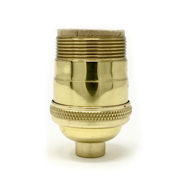 Solid Brass Light Socket With Uno Thread