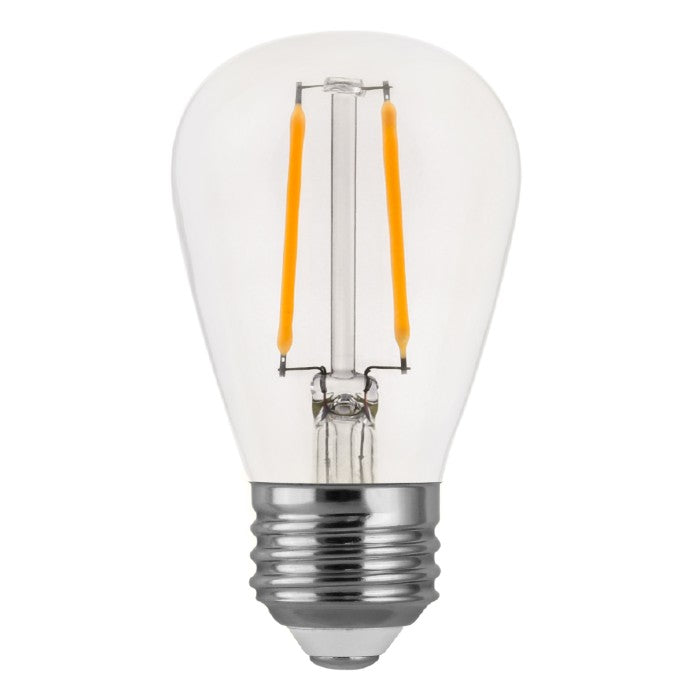 S14 LED 2 Watt Clear Glass Light Bulb