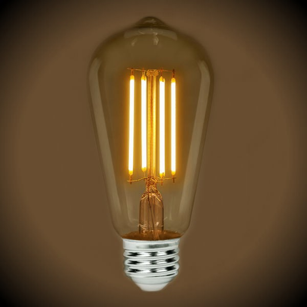 LED Vintage ST19 Bulb - 2700K Color Temp