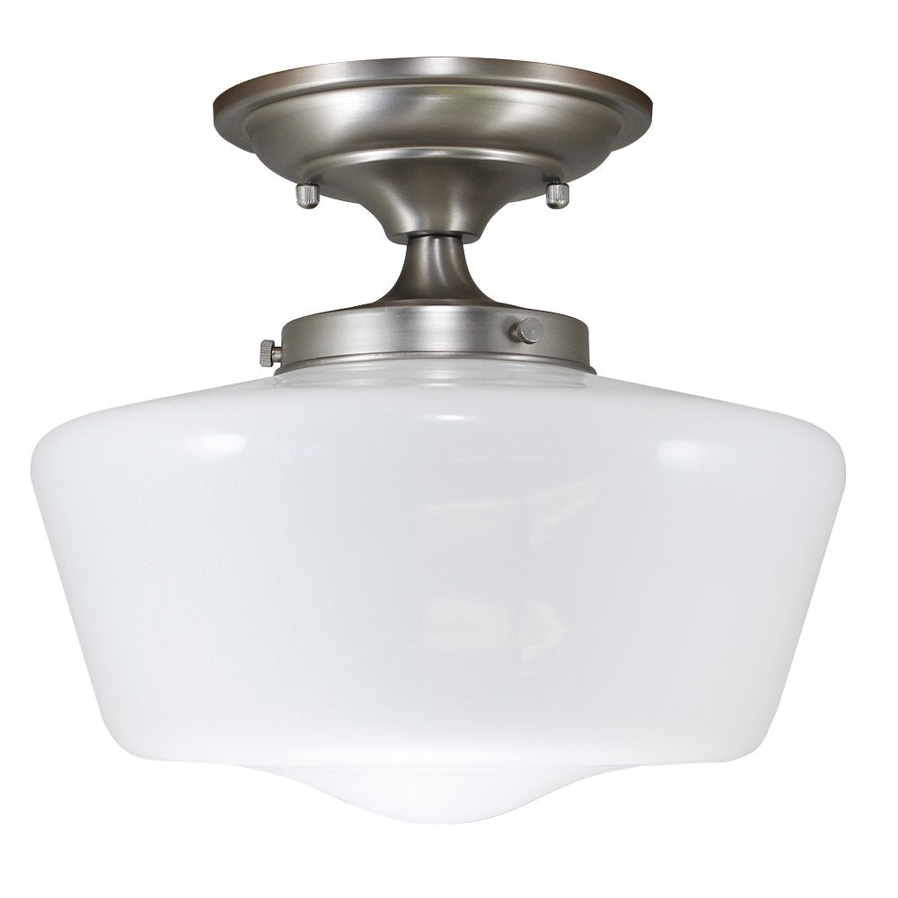 Schoolhouse Floating Semi Flush Mount Fixture