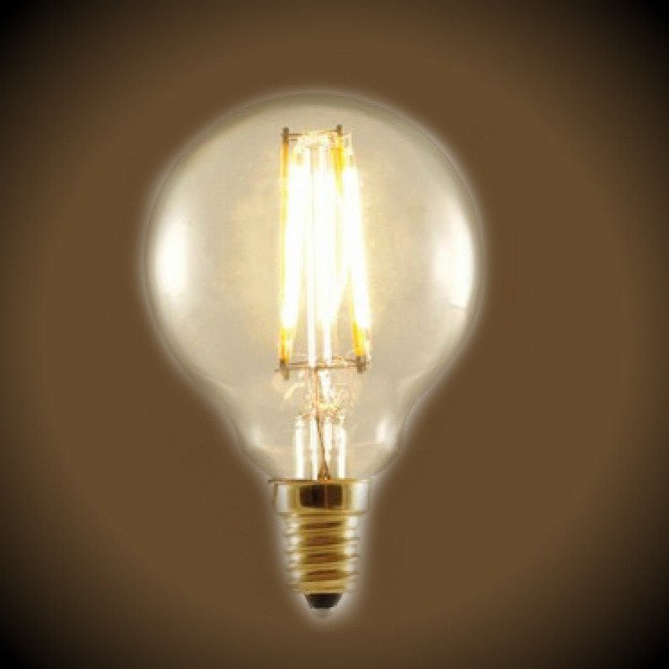 Nostalgic LED Filament G16 Globe Light Bulb - 2 Watt - UL Listed