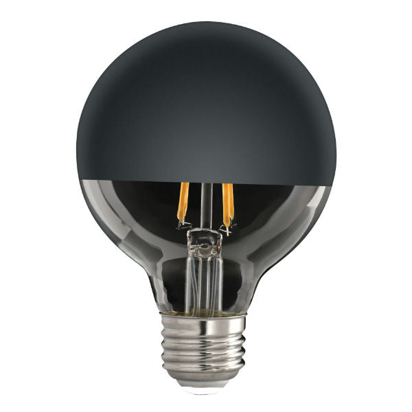 Half Black Bowl LED Globe Bulb