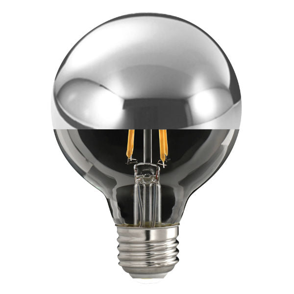 Half Chrome Top LED Globe Light Bulb