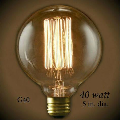 Nostalgic Globe G40 Squirrel Cage Filament Light Bulb 40 Watt