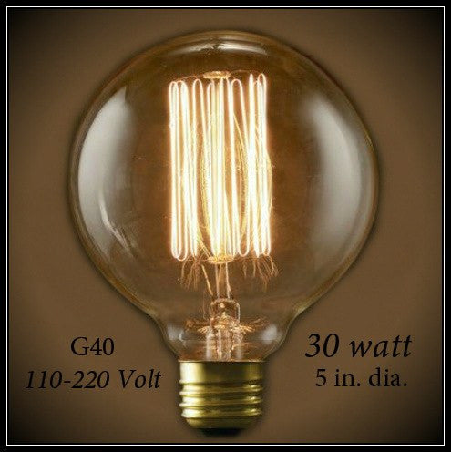 Nostalgic Globe G40 Light Bulb 30 Watt