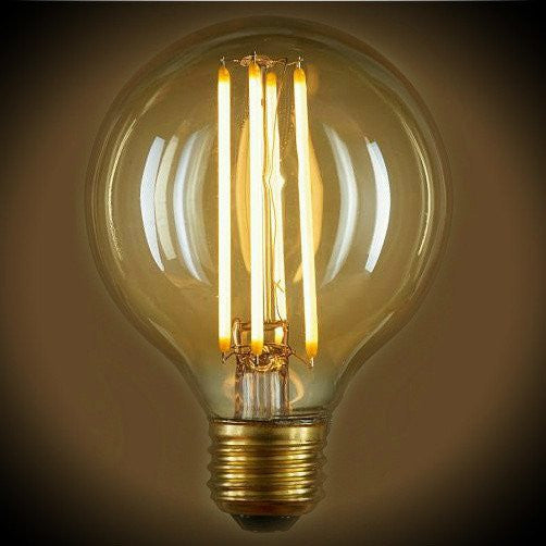 Nostalgic LED Filament Globe Light Bulb - 4 Watt - G25
