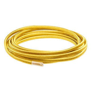 Gold parallel (flat) cloth covered wire - Per ft.