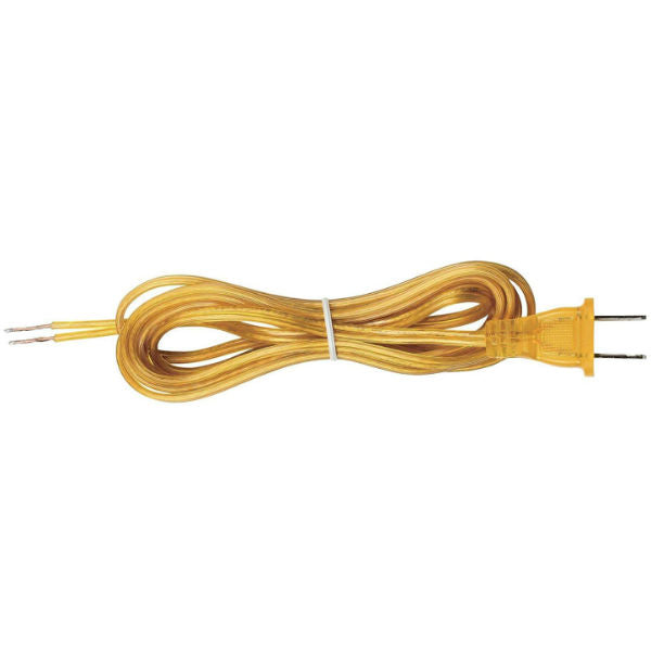 Clear Gold Parallel Cord set with molded Plug - 8 ft. - 10 ft.