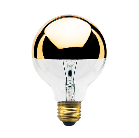 G25 Half Gold Globe Bulb 40 Watt Glod Bowl Light Bulb