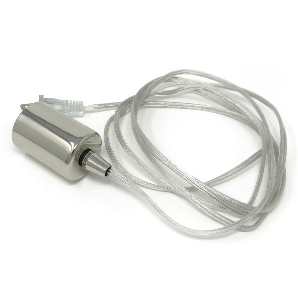Nostalgic Classic Clear wire Pendant - Bare Chrome Socket