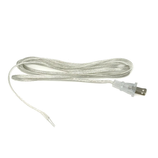 Clear Parallel Cord set with molded Plug - 6 ft. - 16 ft.