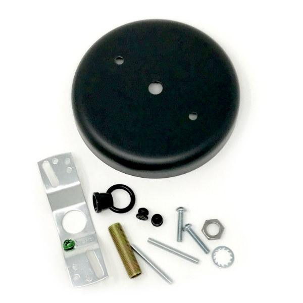 Black Steel Rounded Canopy Kit 4 - 7/8""