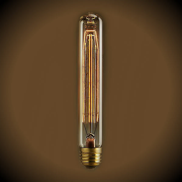 Beacon Tube Nostalgic Bulb - 60 Watt - 7.4 in Length - Amber
