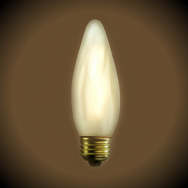Nostalgic Frost 30 watt Chandelier Torch Light bulb