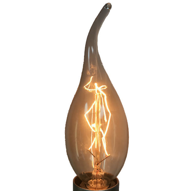 Cleveland Vintage Lighting Edison Flame Candelabra Bulbs: Antique Reproduction Candelabra Swan Light Bulb- 20 Watts