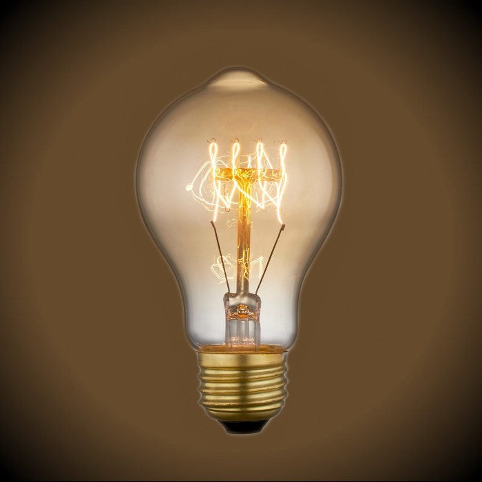 Quad Loop Vintage Light Bulb 60 Watt