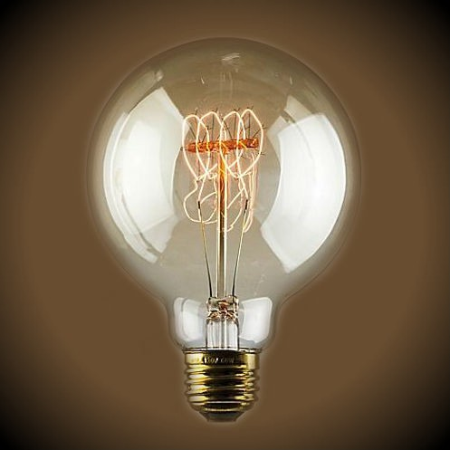 Nostalgic G30 Quad Loop Globe Light Bulb - 30 Watt