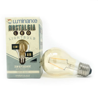 Incandescent style LED A19 Vintage Light Bulb