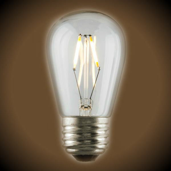 LED Filament S14 Bulb - 1.5 Watt - 180 Lumens - Clear - 2700K