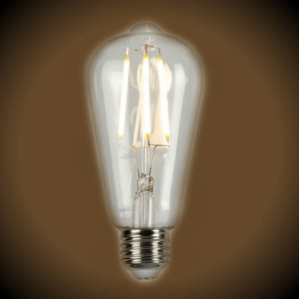 LED Filament Vintage Bulb - 6.5 Watt - Clear - Edison Style 2700K