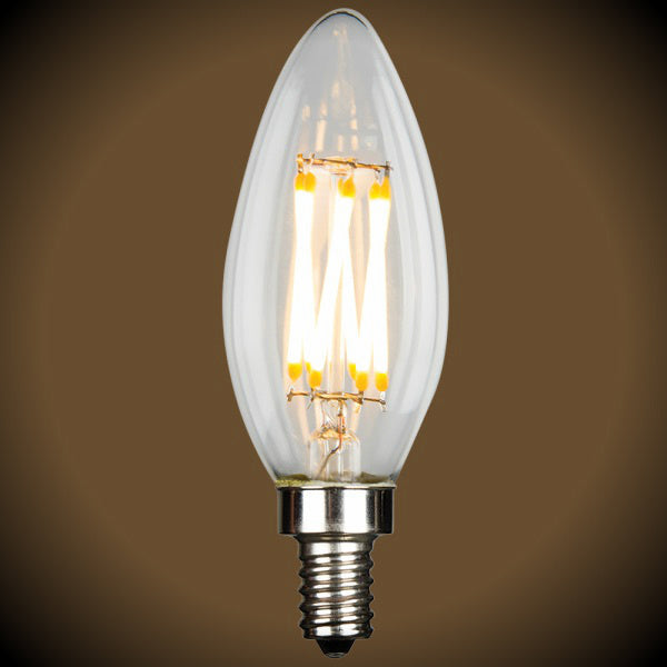 LED Filament Candelabra B10 Light Bulb