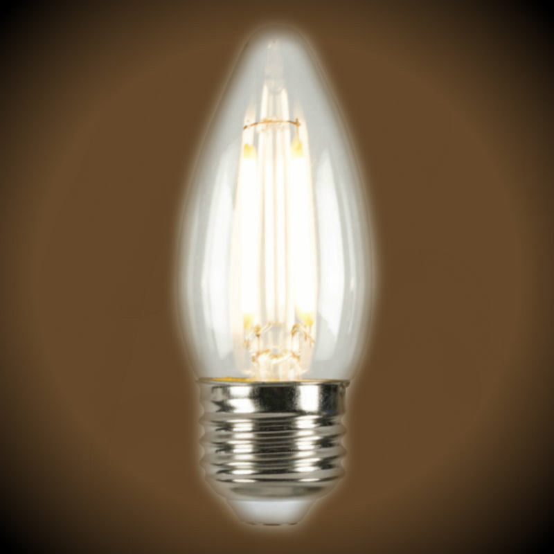 LED Filament B10 Medium Base Light Bulb