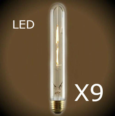 LED T10 Edison Bulb - 9 Pack