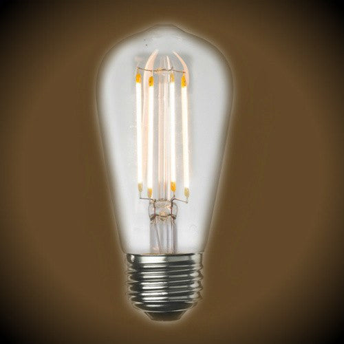LED Clear Filament Vintage Bulb - 7 Watt - Edison Style 2700K