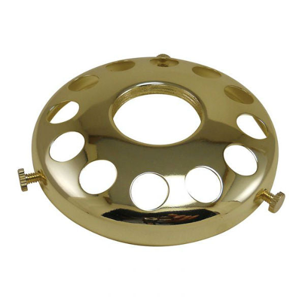 "Brass Finish Lamp Shade Holder 3-1/4"" UNO Threrad"