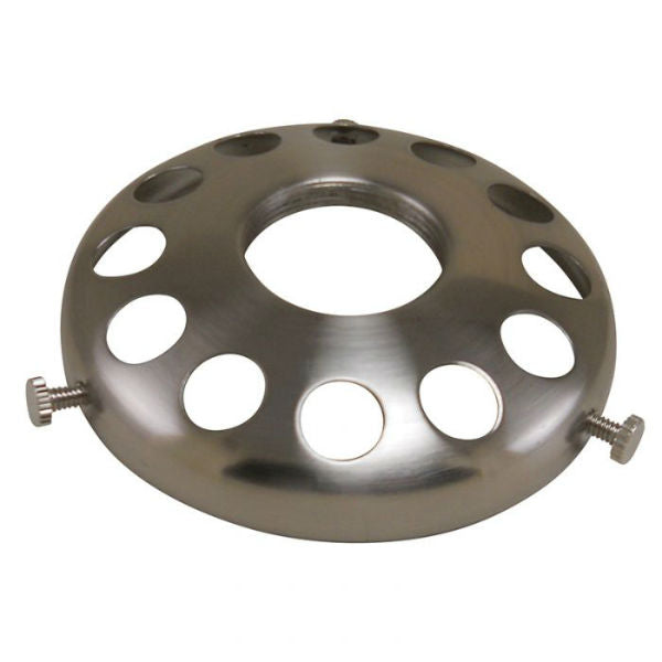 "Satin Nickel Lamp Shade Holder 3-1/4"" UNO"