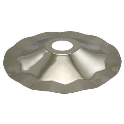 Polished Nickel Finish Metal Lamp Shade