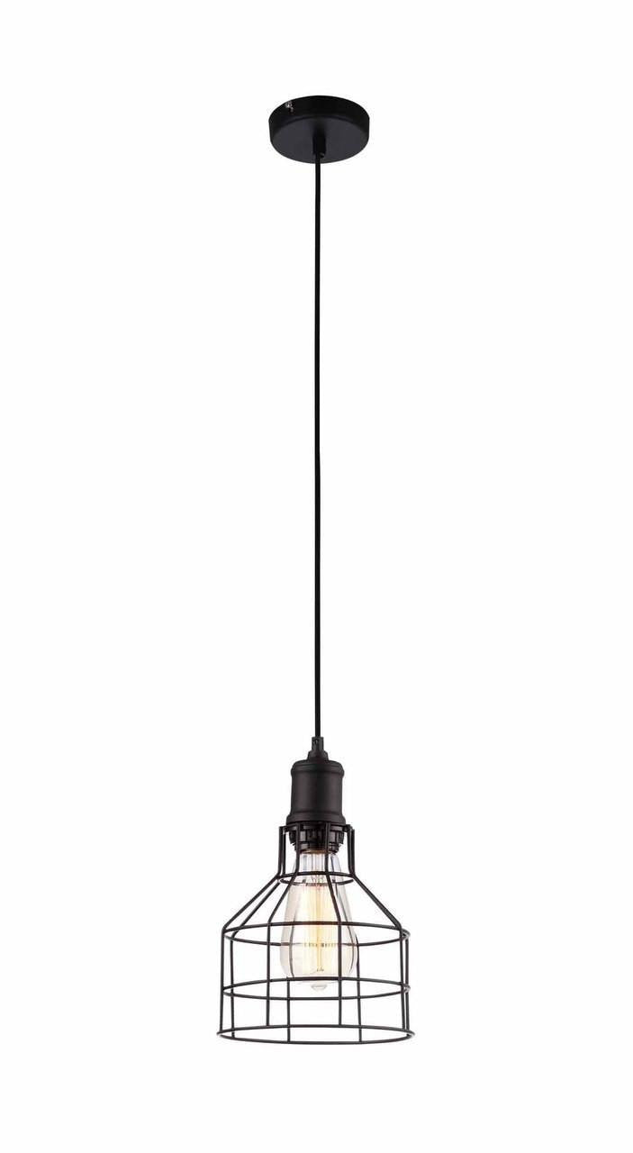 Pendant light industrial vintage chandeliers edison bulbs vintage industrial 1 light caged pendant light aloadofball Images