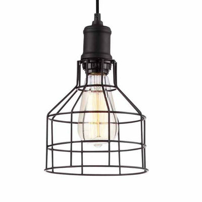 Vintage Industrial 1- Light  caged Pendant Light