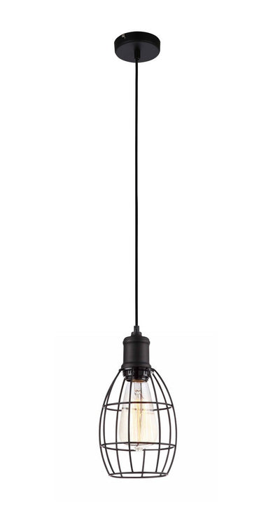 Nostalgic Industrial oval metal caged Pendant Light