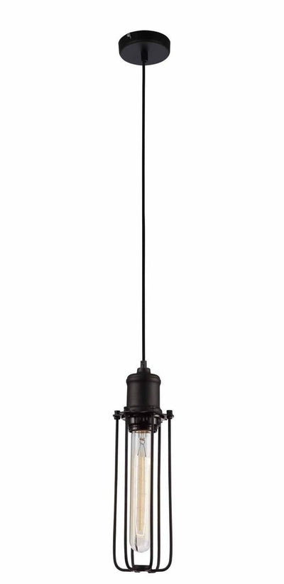 Nostalgic Industrial Tubular metal caged Pendant Light