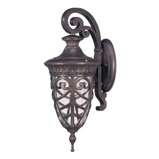 Dark Plum Bronze 1 Edison Light Small Wall Lantern