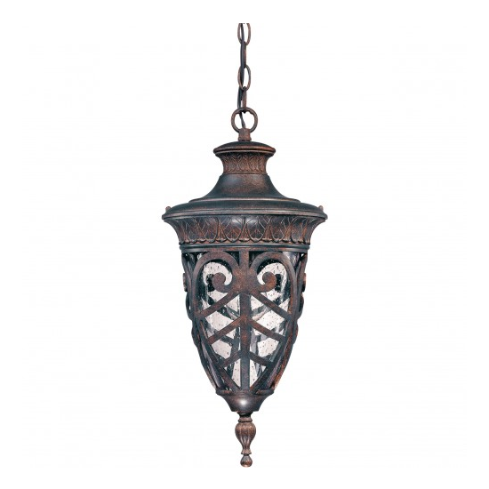 Dark Plum Bronze 1 Edison Light Outdoor Hanging Lantern