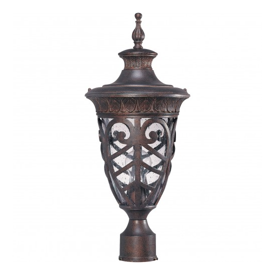 Dark Plum Bronze 1 Edison Light Medium Outdoor Post Lantern