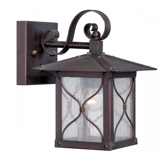 "Classic Bronze 1 Edison Light 6.5"" Outdoor Wall Fixture"
