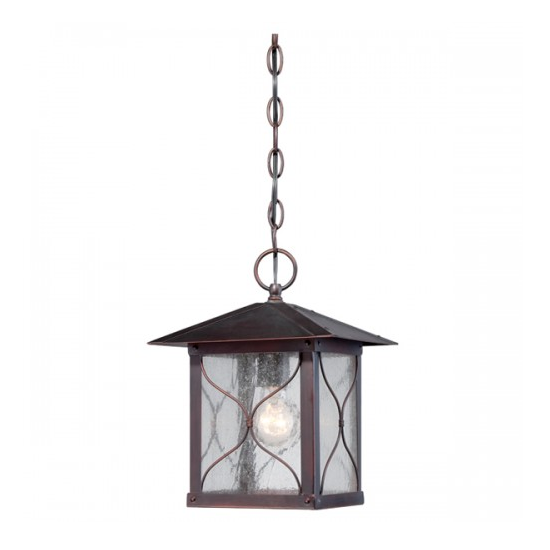 Classic Bronze 1 Edison Light Outdoor Hanging Fixture